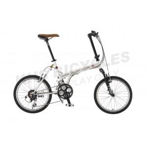 KHS Folding Bike F20 Westwood 24s White